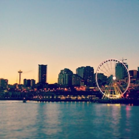 This Artsy Life: Weekend 27 [ Sunny Seattle Days ] - artsy forager #seattle #skyline #sunset