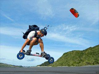 Sand kite surfing