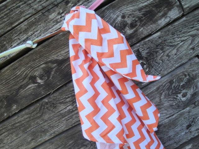 Orange Chevron Blanket Swaddler Light Receiving Blanket by Ahmelie, $15.00