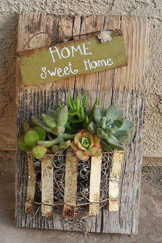 Succulent planter sign