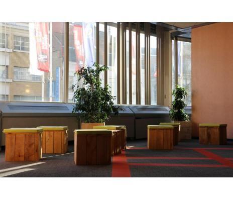 pot bas eco mobilier bois de palette recycl pots et jardini res pinterest pots. Black Bedroom Furniture Sets. Home Design Ideas