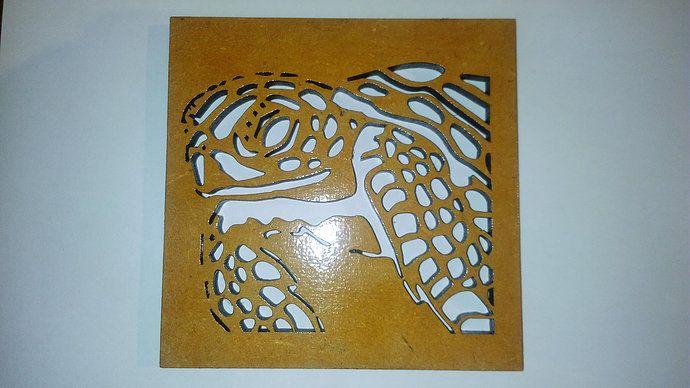 posa vaso de tortuga en madera corte laser