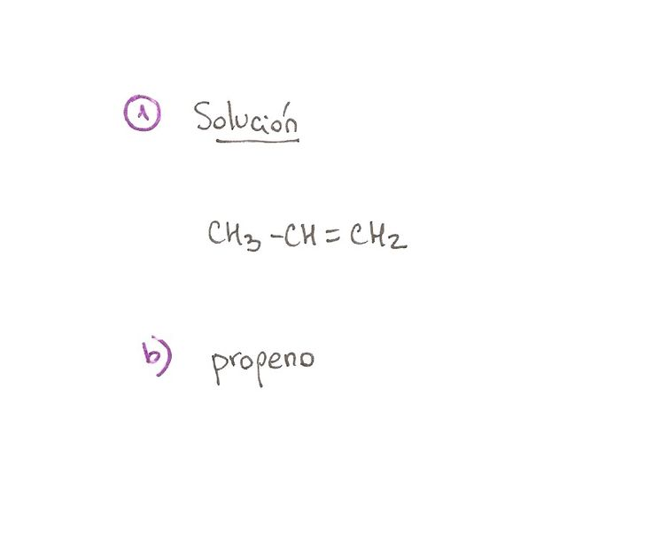 Ejercicio resuelto 01, formulación orgánica de Alquenos. Ejercicio de múltiple opción.