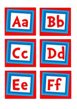 This alphabet display is designed for use as a Word Wall or as a classroom alphabet display in any classroom, especially a Dr Suess themed classroom...