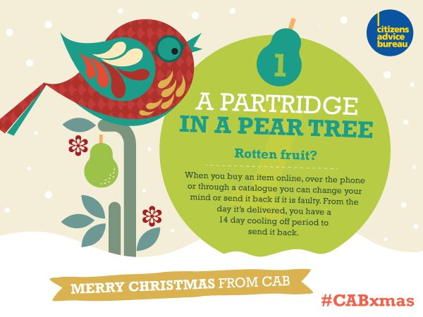 You have 14 days to change your mind or send back something if it's faulty #CABxmas