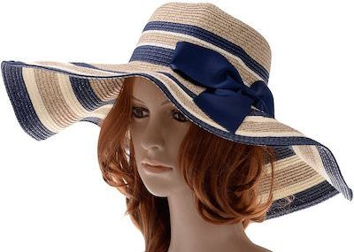 Large Brim Striped Beach Hat