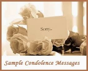 Sympathy Messages - Sample Condolence Messages
