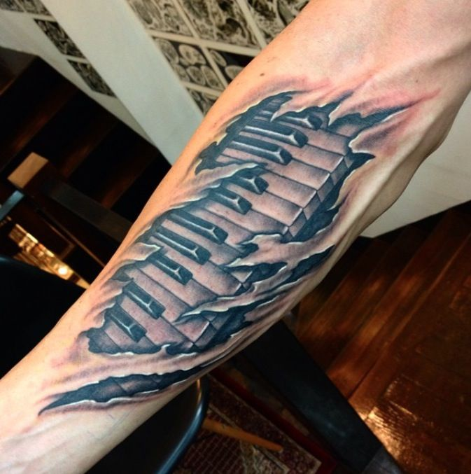 piano tattoo sleeve - Google Search