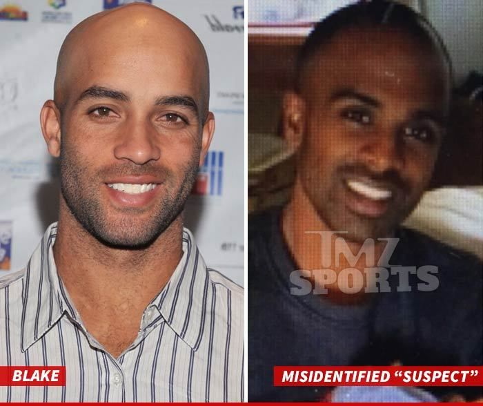 The man on the right was the person NYPD cops were looking for when they allegedly detained and roughed up retired tennis star James Blake--…