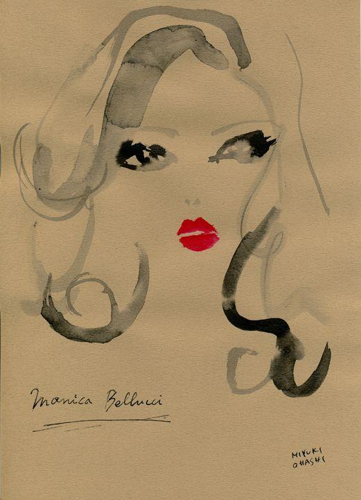"""""""Monica Bellucci for Dolce & Gabbana""""  ビアンカ・バルティ(Bianca Balti)と共に、目下Dolceのミューズであるモニカ・ベルッチ(Monica Bellucci)。  メイクアップラインのイメージフォトは真っ赤な唇がゴージャス!さすがイタリア女優です。"""