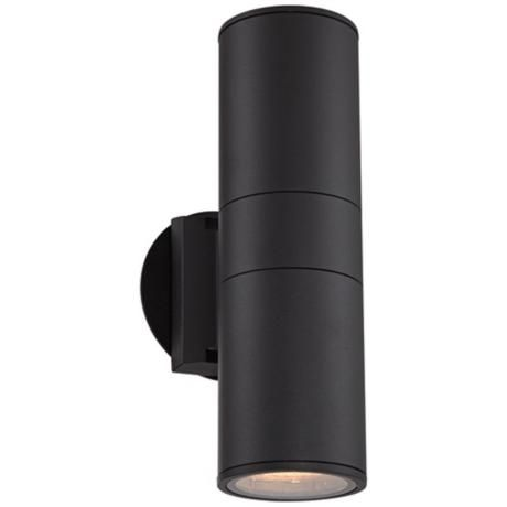 Sanford Black Cylinder Outdoor Wall Up and Downlight - #2W557 | LampsPlus.com