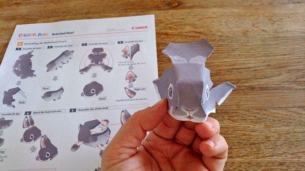 *** Kostenlose Bastelvorlage zum Ausdrucken! ***  Süßer Osterhase aus Papier! Cute papercraft bunny for easter!  #Osterhase #rabbit #easter #Ostern #Papier #Papercraft #CanonCreativePark #creative #kreativ #Bastelidee #Bastelidee #kreativ #Kinder #Ausschneiden #basteln #ausdrucken #kostenlos #freebie #Vorlage #KinderDIYTrends #Kids