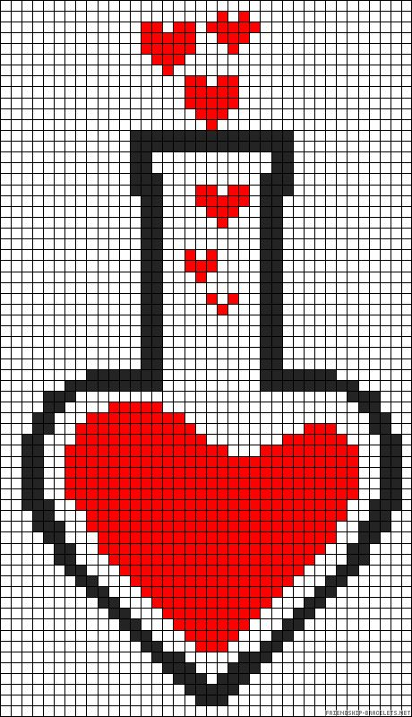 love potion perler bead pattern minecraft pixel art pinterest points de couture motifs et. Black Bedroom Furniture Sets. Home Design Ideas