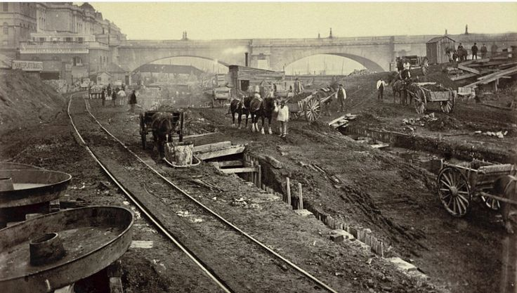 Waterloo Bridge 1869 construction of the Metropolitan Line