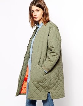 Enlarge Ganni Quilted Army Coat