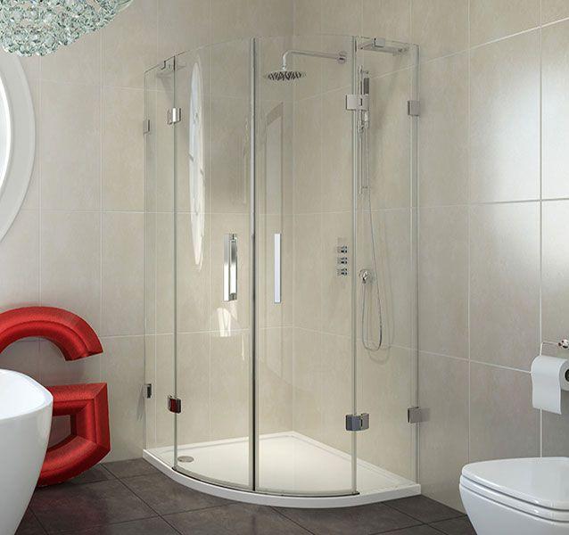 1000x1000mm 8Series Frameless Quadrant Shower Enclosure | Bathrooms.com
