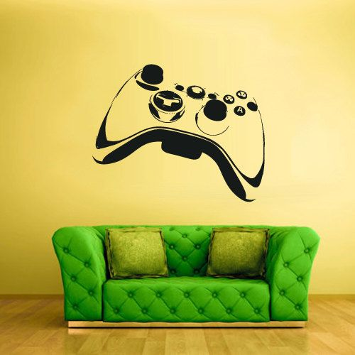 Wall Decal Vinyl Sticker Decals Gaming Time xbox 360 ps3 Game ps2 Controller (z1623):  for the game room!