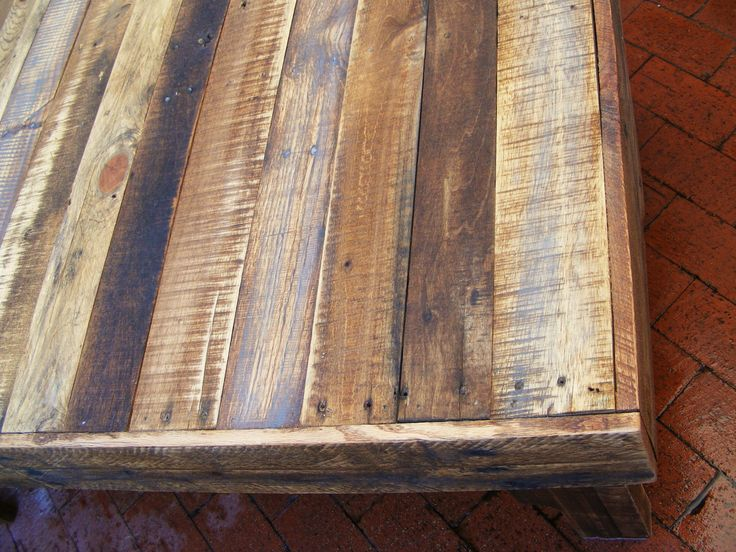 Large rustic reclaimed wood coffee table 46 x 28 x 17 for Large reclaimed wood coffee table