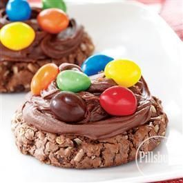 Frosted #Brownie Monster #Cookies from Pillsbury® BakingYummy Snacks, Recipe, Monsters Cookies, Sweets Treats, Food, Frostings Brownies, Pillsbury Baking, Brownies Monsters, Sweets Tooth