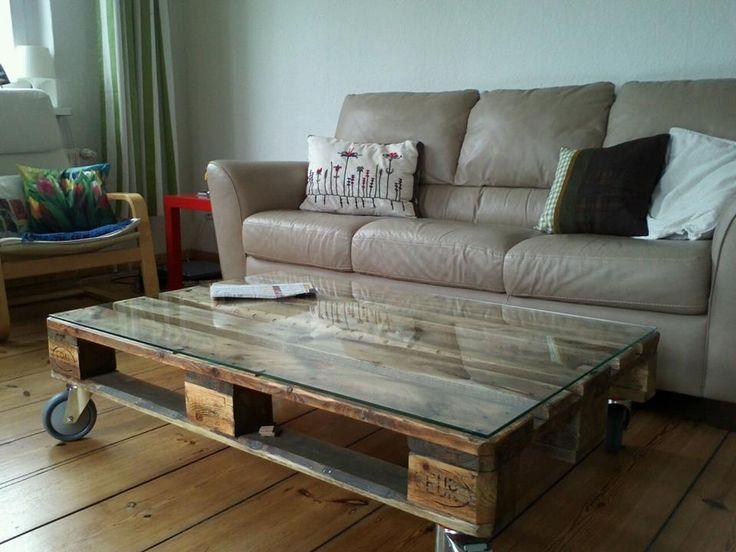die besten 25 europalette tisch glasplatte ideen auf. Black Bedroom Furniture Sets. Home Design Ideas