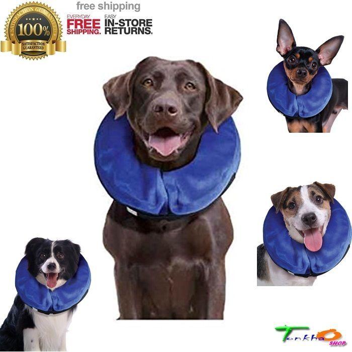 KONG Inflatable Dogs Collar Dog E Collars Health Injuries Rashes XS to XL USA FS #KONG