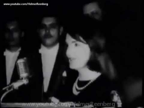 """November 21, 1963, Houston;  President Kennedy, Mrs. Kennedy, and Vice-President Johnson spoke at a  LULAC banquet at the Rice Hotel.  The First Lady wowed the crowd by delivering her remarks in Spanish. Translated to English, she said: """"I'm happy to be in the great state of Texas and I'm especially pleased to be with you, who are part of the great Spanish tradition, which has contributed so much to Texas."""""""