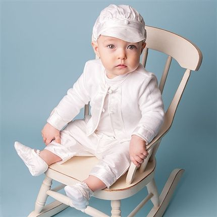 Baby Boy 3-Piece Set - Jonathan Christening/Baptism Collection - Fancy Gowns & Suits .... So cute...Now just need to find one similar that I can afford!