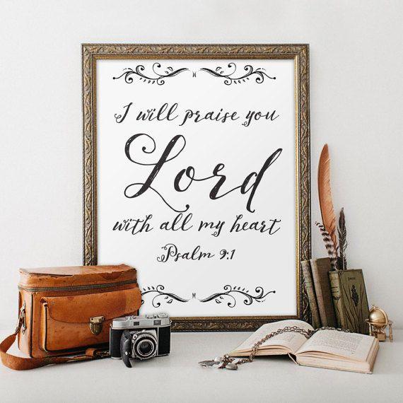 Bible Verse Printable Wall Art Flowers by TwoBrushesDesigns