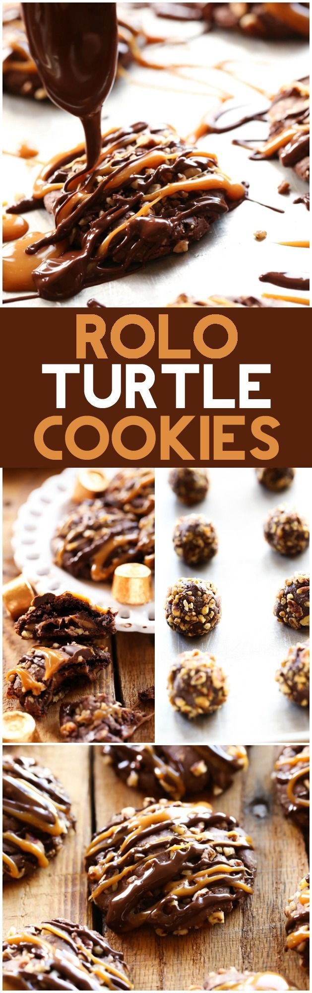 ROLO Turtle Cookies... These cookies are UNBELIEVABLY GOOD! They are ooey, gooey with a delicious crunch of pecans.