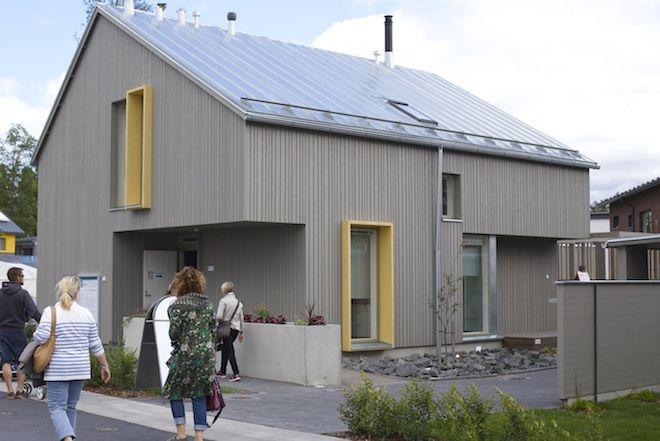 Asuntomessut 2015 Vivola CLT-tekniikalla toteutettu kohde, linkin takana sisustuskuvia.