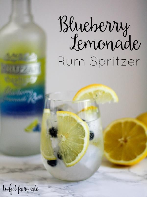 Blueberry Lemonade Rum Spritzer