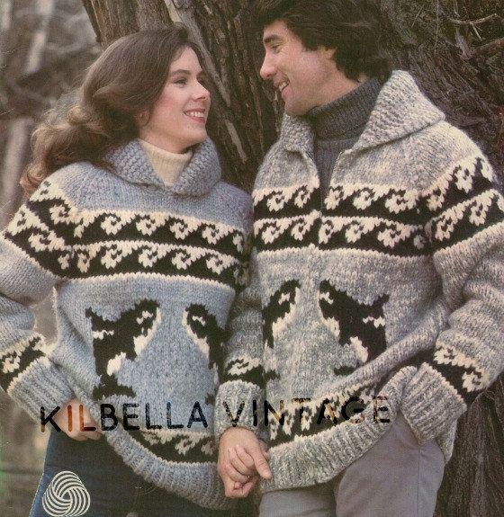 White Buffalo  6103 COWICHAN  Orca Sweater by KilbellaVintage