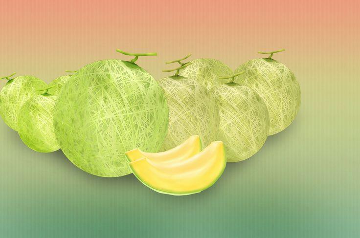 メロンの無料イラスト素材集☆切ったメロンにリアルなイラストも★フルーツのイラスト素材ならチコデザ産の果物はいかが?テイストたっぷりのメロンを召し上がれ!
