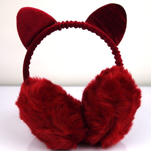 FUR GOODNESS SAKES FAUX-FUR EAR MUFFS (VARIOUS COLORS)  My goodness it can't get cold out there in this big world, non? Weather the storm in these comfortable and quirky cat earmuffs made from faux fur and soft velvet in an array of colors. One size fits most adult kitties.