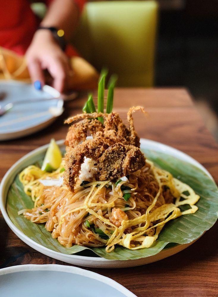 Photo Of Tem Sib Thai Food Reimagined Bellevue Wa United States Crab Pad Thai Food Thai Recipes Lunch Specials