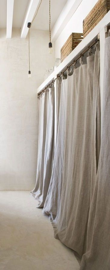 full length linen wardrobe curtains