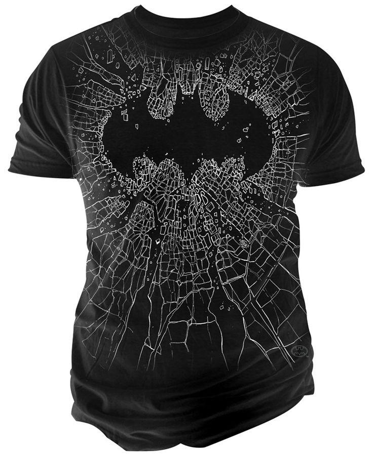 Changes Men's Batman Broken Glass T-Shirt - T-Shirts - Men - Macy's