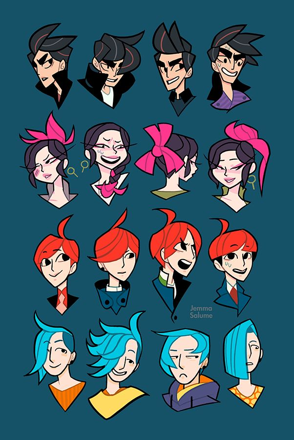 Oc Hair Explorations By Oxboxer Deviantart Com On
