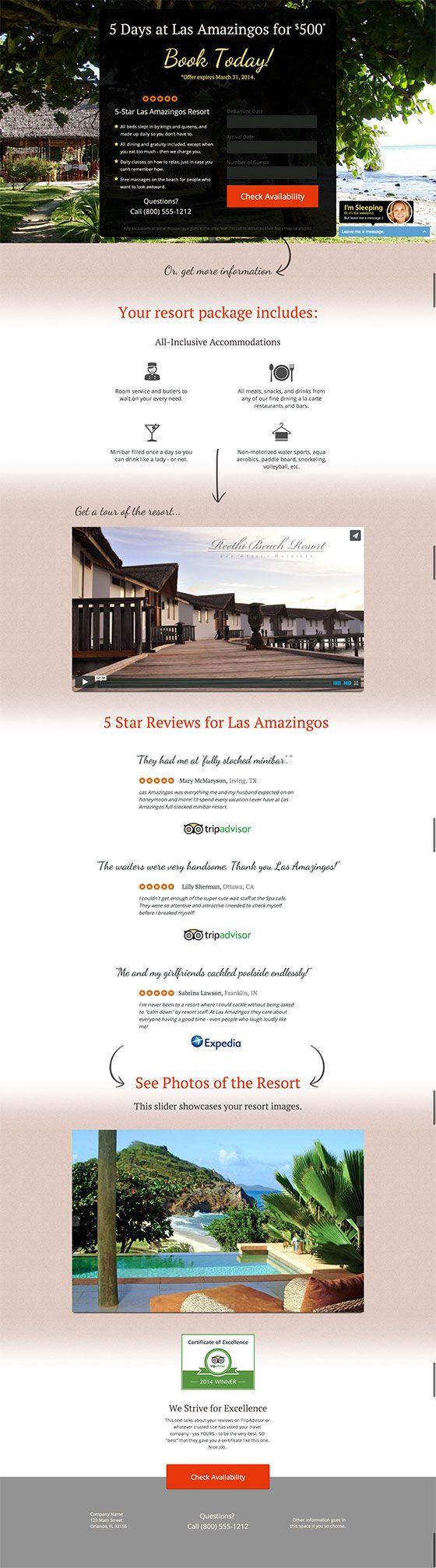 Convert Travel Landing Page Lead Form - Unbounce Conversion Centered Design Template Contest Winner