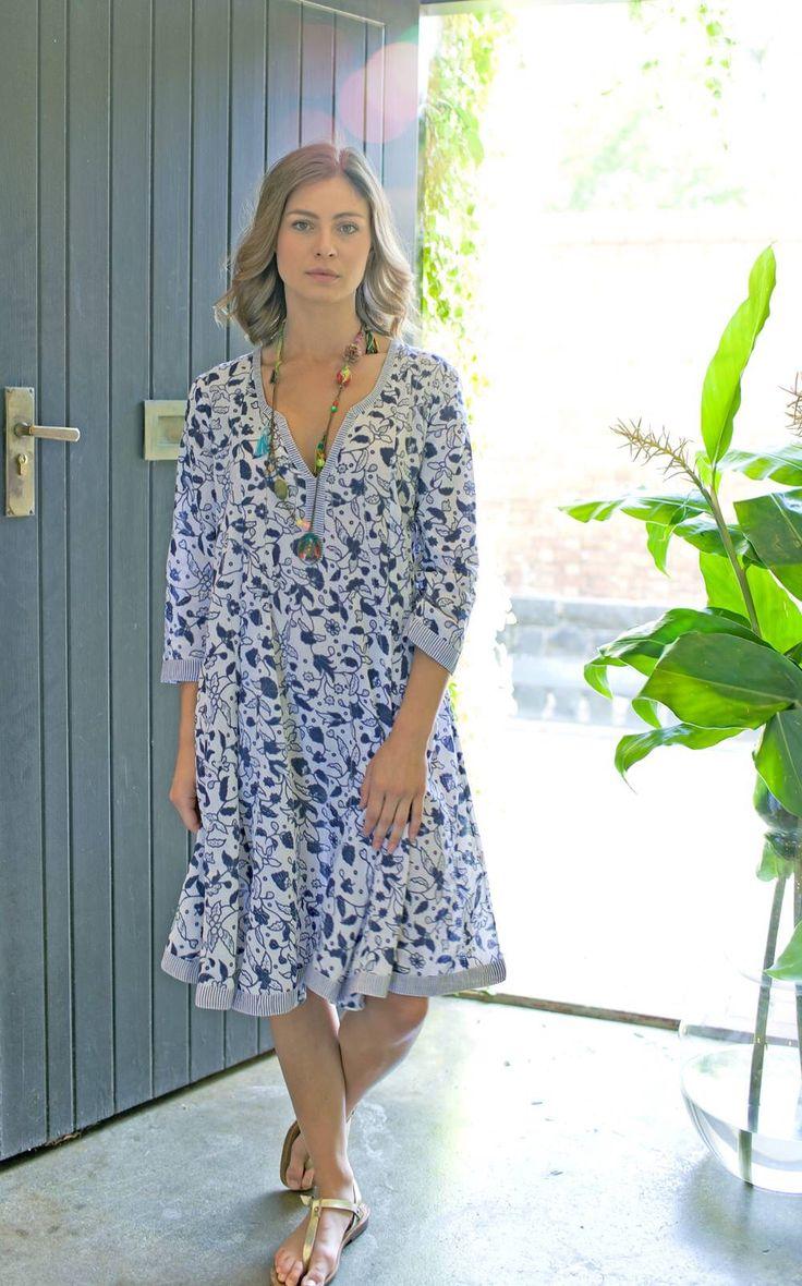New Spring Batik Tea Dress