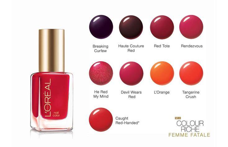 L'Oreal Paris Colour Riche Nail Color [Femme Fatale Collection] / CosmeticSanctuary