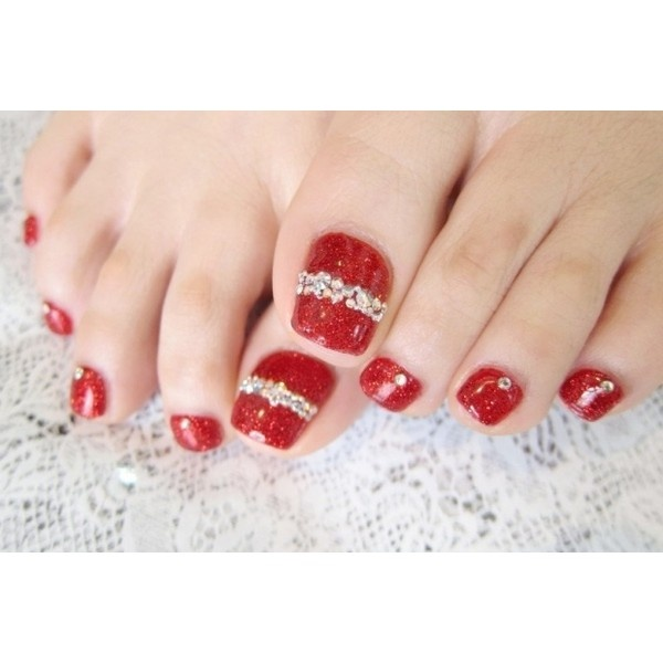 Pedicure Nail Art Designs for Fall ❤ liked on Polyvore