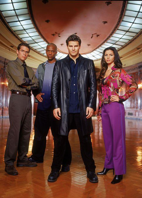 Angel - (l to r) Alexis Denisof, J. August Richards, David Boreanaz, Charisma Carpenter - Season 2 Angel ~ #Angel