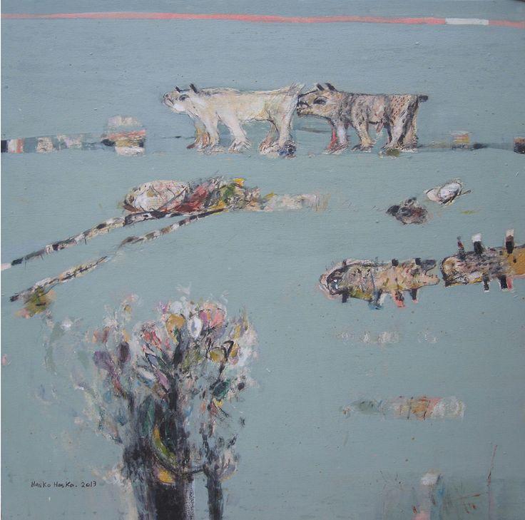 The Love, acrylic on canvas, 75x75cm