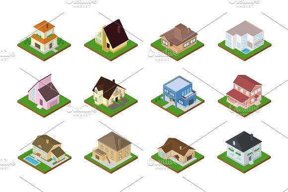 house vector isometric housing illustration fuchs vektor vektordatei erstellen photoshop