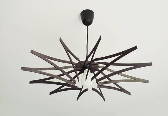 STAR plywood lamp #plywood #design #black #lasercut #livingroom