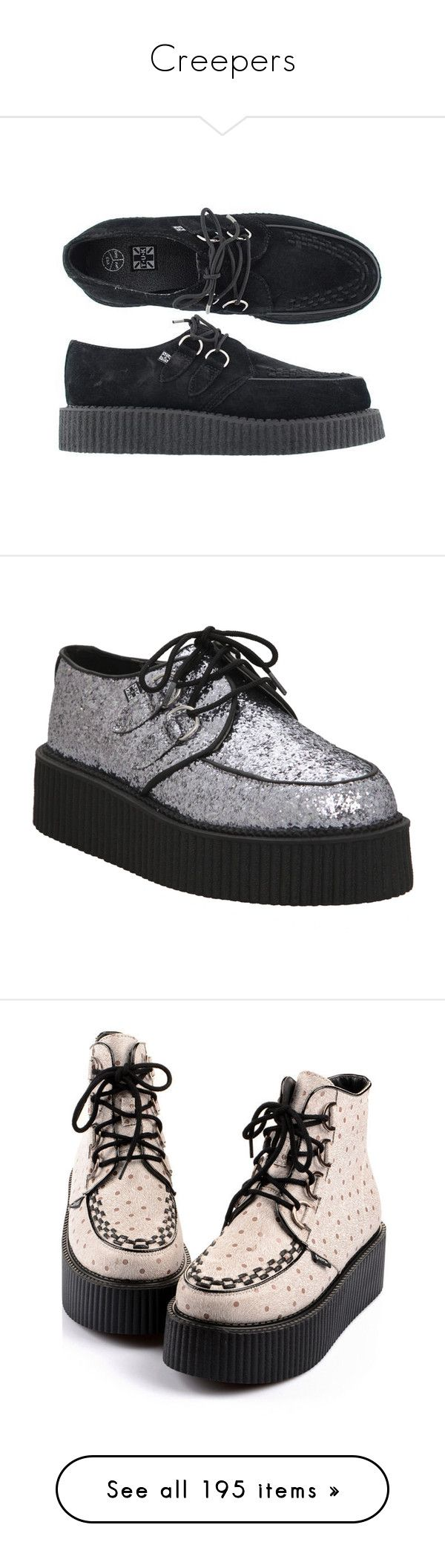 """""""Creepers"""" by life-love-peace ❤ liked on Polyvore featuring shoes, creeper, suede shoes, black creeper shoes, suede material shoes, creeper shoes, black suede shoes, creepers, black shoes and black glitter shoes"""