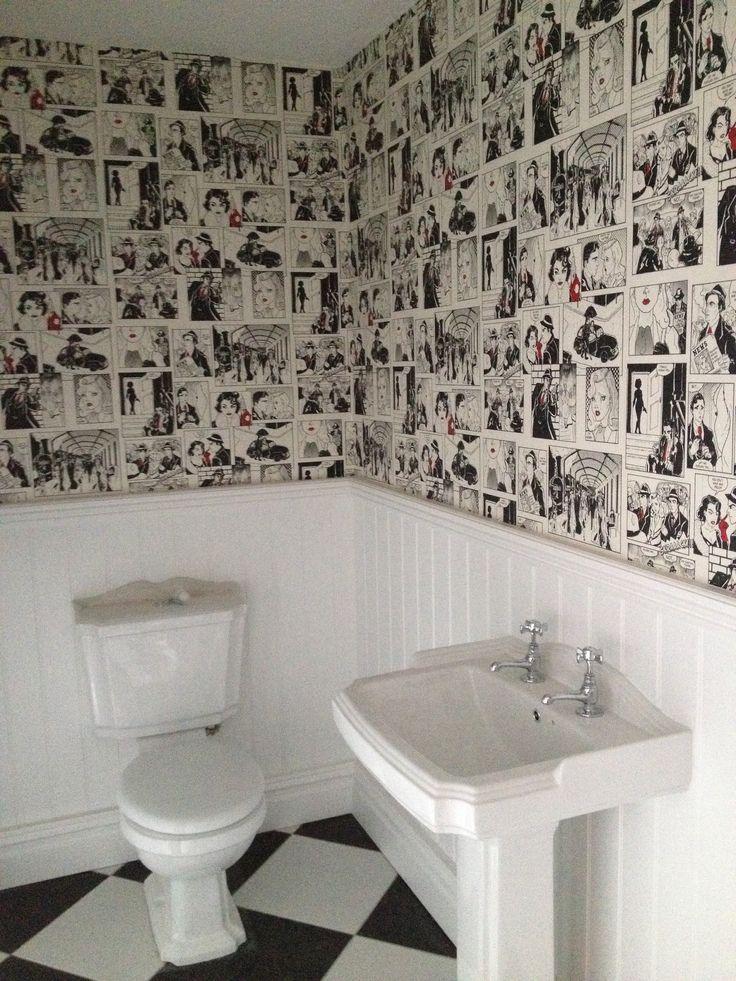 Comic strip wallpaper, Nyland Manor