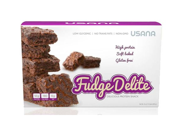 USANA Fudge Delite - Soft-Baked Protein Snack that will give all the chocolaty taste you have been craving! Preferred Price $32.95 / 14 bars