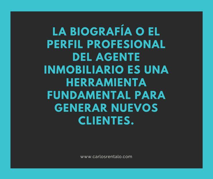 La biografía del agente inmobiliario blog Carlosrentalo.com
